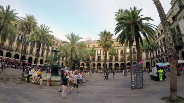 Plaza Real In Barcelona, Spain