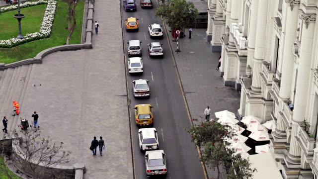 plaza san martin in lima peru - lima peru stock videos and b-roll footage