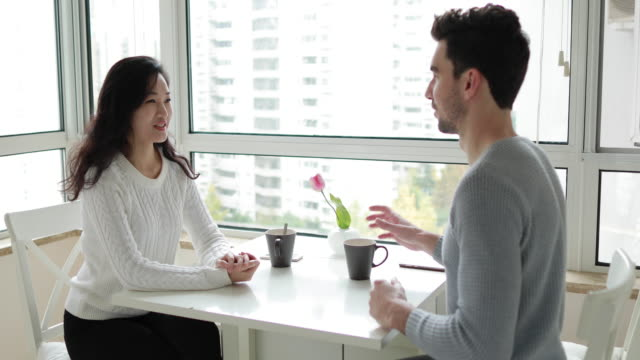 pleasant date - young couple stock videos & royalty-free footage