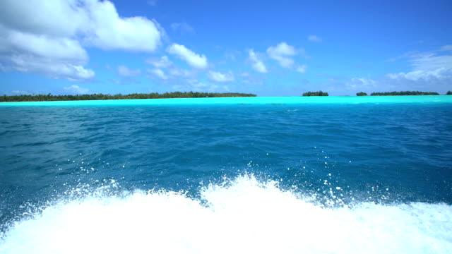 pleasure craft in luxury island resort bora bora - polynesian ethnicity stock videos & royalty-free footage