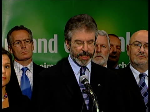 ira pledge to lay down their weapons gerry adams press conference sot unfortunately there's a time for war there's also a time to engage to reach out... - gerry adams stock videos and b-roll footage