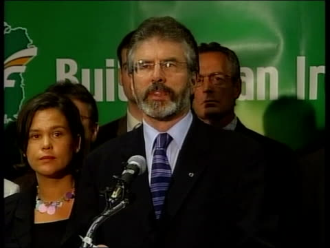 ira pledge to lay down their weapons gerry adams statement adams statement sot on april 6th i made a direct appeal to the men and women volunteers of... - equality now stock videos and b-roll footage