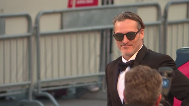 a plethora of stars graced the red carpet at the 76th venice film festival including joaquin phoenix the joker from todd phillips film catherine... - joaquin phoenix stock videos & royalty-free footage