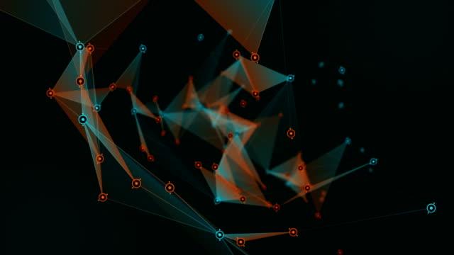 Plexus 3D Rendering abstracte netwerk technologie Science achtergrond