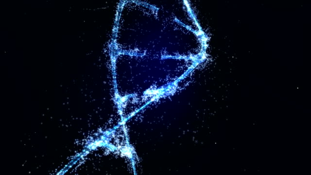 stockvideo's en b-roll-footage met plexus dna molecule model - dna