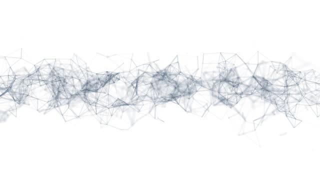 vidéos et rushes de technologie abstraite de fantaisie de plexus - molécule