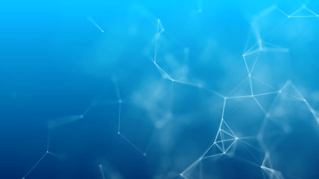 plexus form on blue background 4k resolution - physical structure stock videos & royalty-free footage