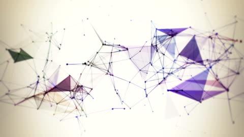 vídeos y material grabado en eventos de stock de líneas de plexus, tecnología abstracta, ciencia e ingeniería de bucle de fondo - plexo