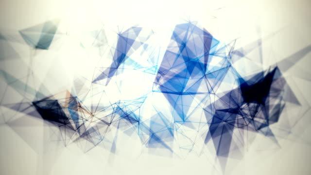 神経叢線, 抽象的な技術, 科学と工学の背景ループ - 金属点の映像素材/bロール