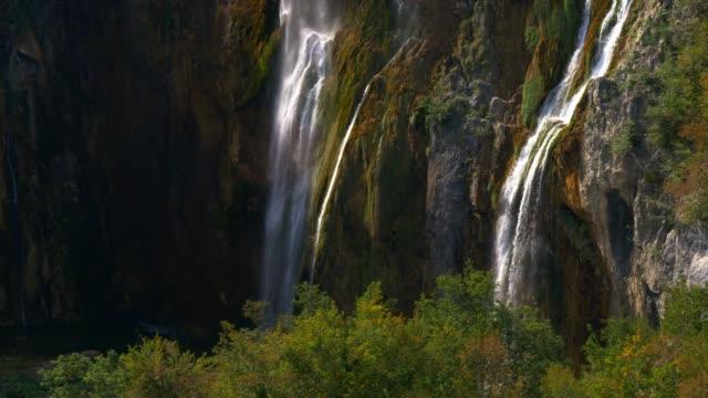 plitvice lakes biggest waterfall in croacia - croatia stock videos & royalty-free footage