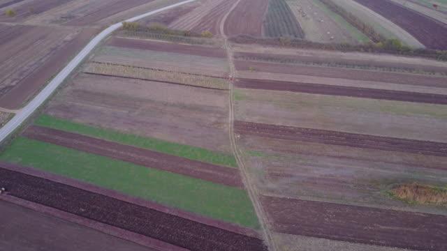 Plowing on a field 4k