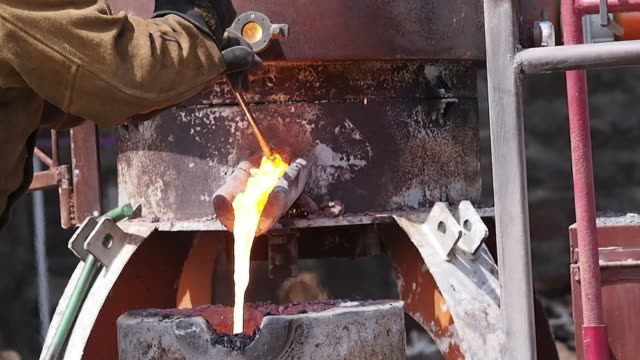 plugging the kiln - pour spout stock videos & royalty-free footage