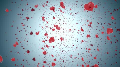 pluie de coeur - rain of love - embrasser stock videos & royalty-free footage