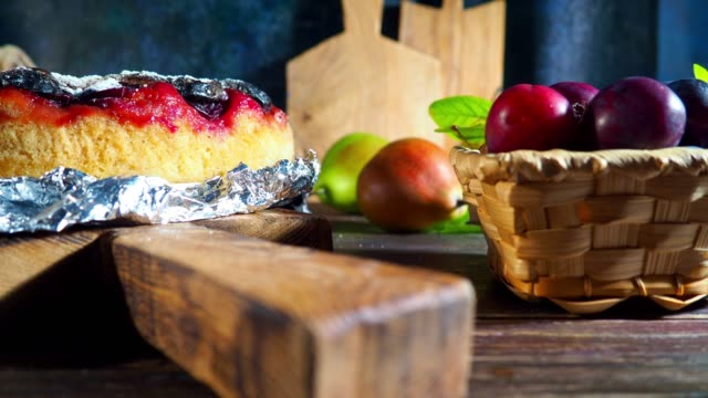 plum and pear pie - plum stock videos & royalty-free footage