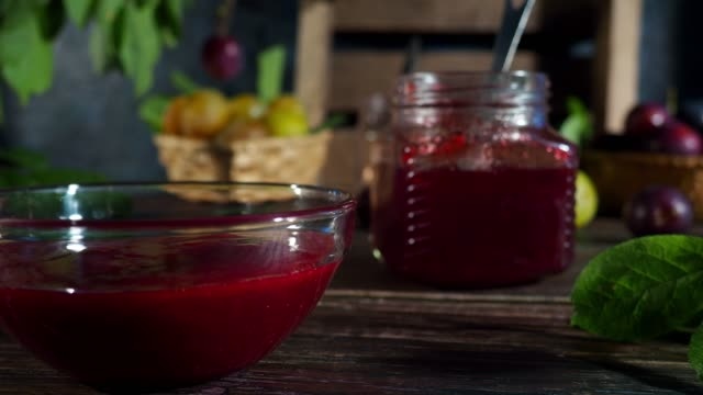 plum jam - gelatin stock videos & royalty-free footage