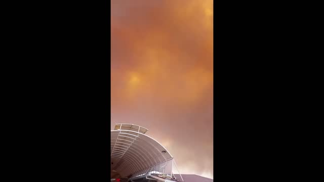 plumes of smoke filled the sky at a holiday resort in turkey as a wildfire raged at a nearby forest on july 28. german tourist... - tourist resort stock videos & royalty-free footage