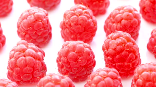 plump and ripe red raspberries, close-up - brambleberry stock videos & royalty-free footage