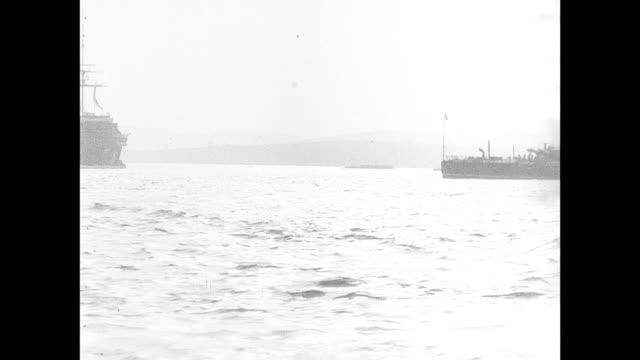 1901 plymouth harbor - militärschiff stock-videos und b-roll-filmmaterial