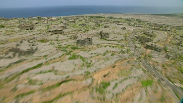 Plymouth, Montserrat after volcanic eruption decimated city.