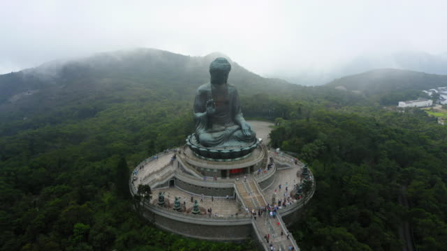 po lin monastery in lantau island, hong kong - buddhism stock videos & royalty-free footage