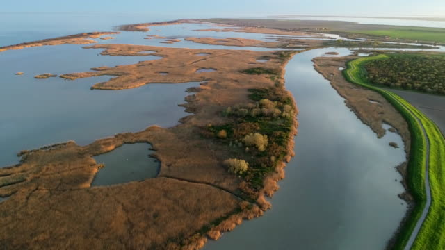 po river delta, veneto, italy - lagoon stock videos & royalty-free footage