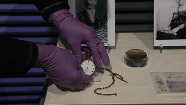 A pocket watch belonging to Cornishman John Chapman who drowned along with his wife Sarah and is being displayed as part of the new Titanic Stories...