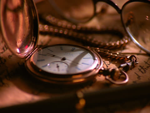 pocket watch with sweeping second hand - mpeg video format stock videos & royalty-free footage