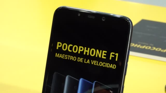 Pocophone F1 during the Mobile World Congress 2019 in Barcelona Spain on February 27 2019
