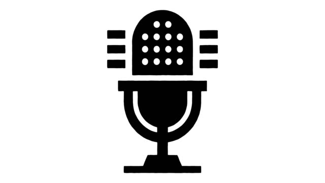 podcast advertising line drawing & ink splatter reveal animation with alpha - comedian stock videos & royalty-free footage