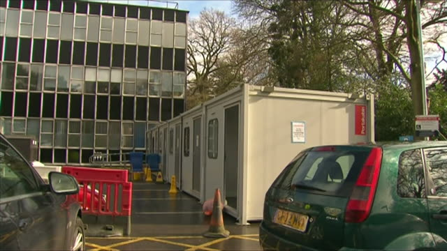 pods in car park of sutton coldfield hospital for people who think they may have coronavirus to stop them going into a and e departments - contemplation stock videos & royalty-free footage