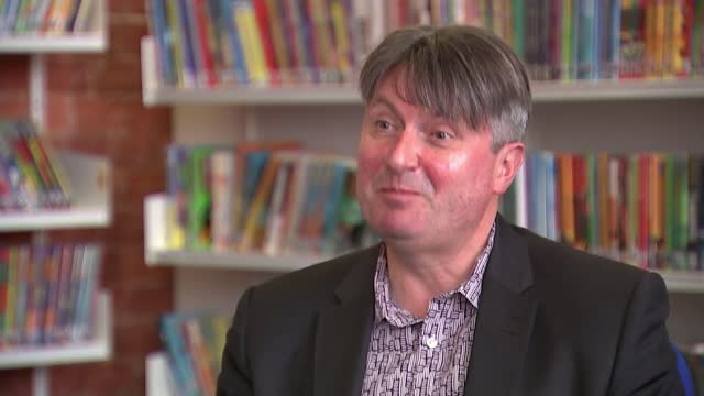 poet laureate simon armitage begins ten year campaign prompting libraries; england: north west leicestershire: ashby-de-la-zouch: ashby-de-la-zouch... - consumerism stock videos & royalty-free footage
