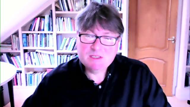 poet laureate simon armitage explaining how he wrote the elegy for the duke of edinburgh - literature stock videos & royalty-free footage