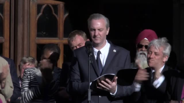 poet tony walsh performed a touching ode to manchester called this is the place which sparked ripples of laughter lightening the mood as the sun... - poet stock videos & royalty-free footage