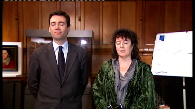 carol ann duffy named as next poet laureate england manchester john rylands library photography** andy burnham mp speech sot announces duffy as next... - poet stock videos & royalty-free footage