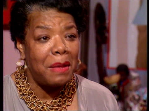 Maya Angelou USA Washington Maya Angelou CMS Maya Angelou intvw SOF Clinton said he learnt a lot about how to treat black people in his family store/...