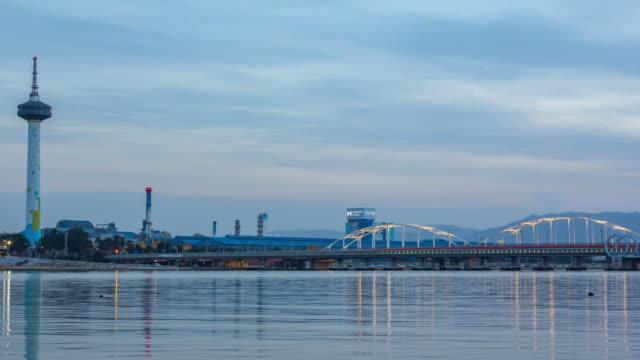 pohang bridge - north gyeongsang province stock videos & royalty-free footage