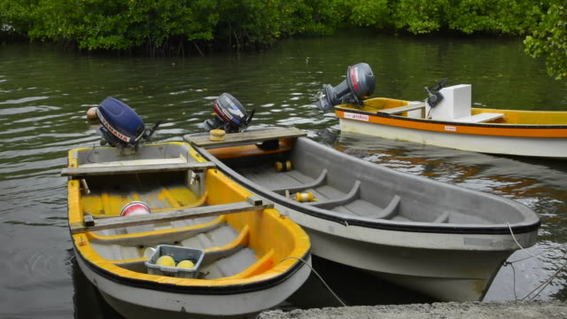 Pohnpei Micronesia boats on water at local homes used for fishing