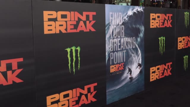 """point break"""" los angeles premiere at tcl chinese theatre on december 15, 2015 in hollywood, california. - premiere event stock videos & royalty-free footage"""