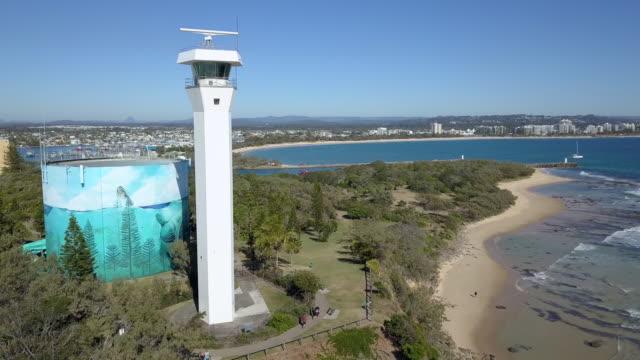 point cartwright lighthouse, sunshine coast, australia - 1978 stock videos & royalty-free footage