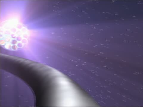 cgi point of view center of transparent fiber optic cable / flashing colored lights + history of space images - politics abstract stock videos & royalty-free footage