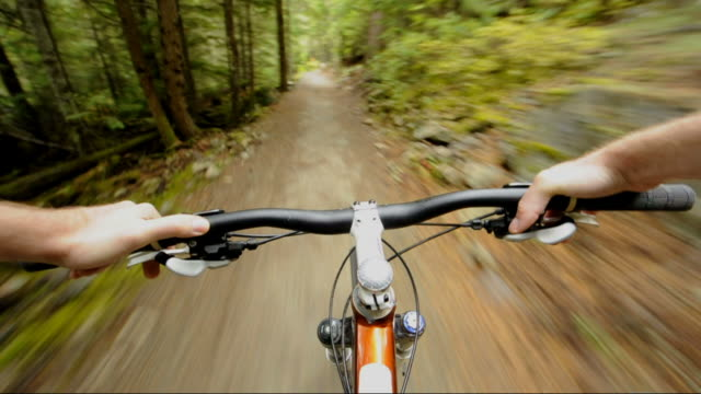 point of view (pov) cross country mountain biking - recreational pursuit stock videos & royalty-free footage