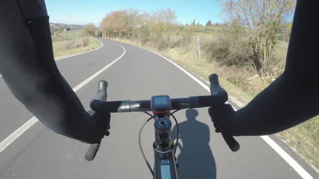 Point of view cycling. Tuscan countryside
