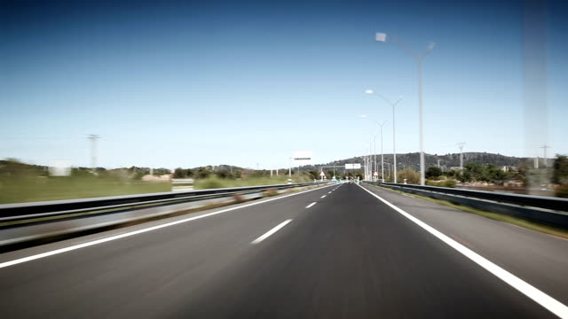 stockvideo's en b-roll-footage met point of view drive on highway - tweebaansweg