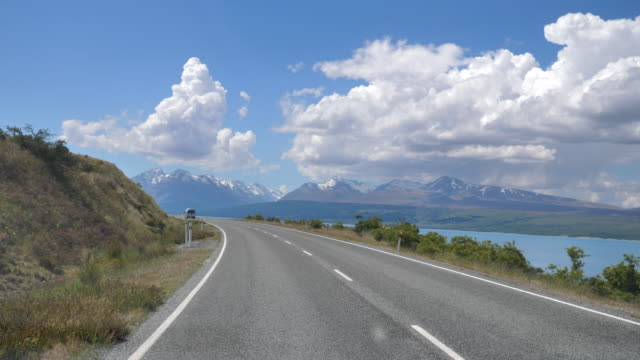 point of view driving a country road in new zealand - car point of view stock videos & royalty-free footage