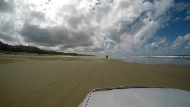 point of view driving on fraser island, australia - 4x4 stock videos & royalty-free footage