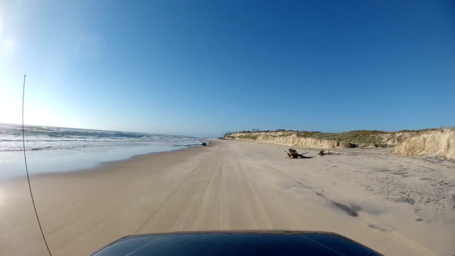 point of view driving on fraser island, australia - dirt track stock videos & royalty-free footage