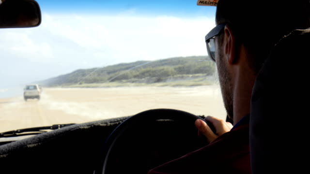 point of view driving on fraser island - natural parkland stock videos & royalty-free footage