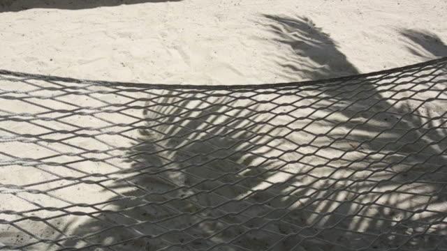 point of view, hammock on beach in tahiti - franska polynesien bildbanksvideor och videomaterial från bakom kulisserna