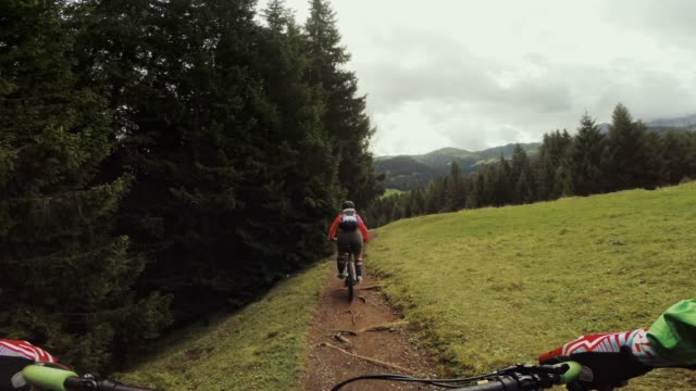 point of view pov mountainbike on the dolomites - point of view stock videos & royalty-free footage