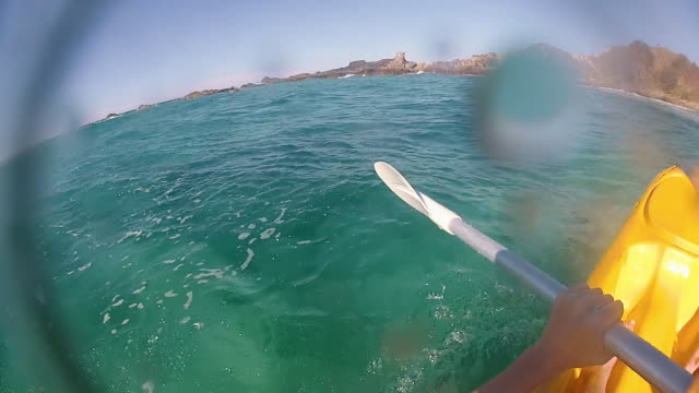 Point of View (POV) of a person in a kayak, at Byron Bay